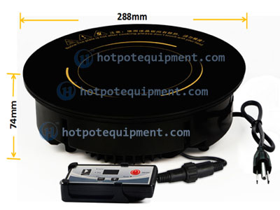Round Built-in Hotpot Induction Cookers Manufacturers For Restaurant Size - CENHOT