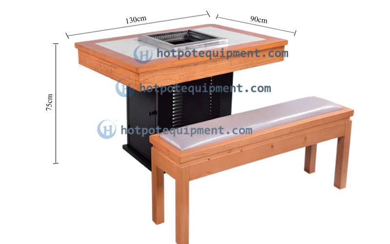 Custom Smokeless Hotpot Table And Chair Set Supply Guangdong size - CENHOT