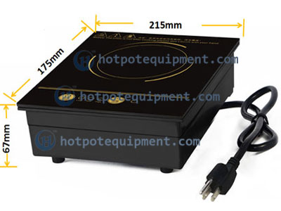 800W Hot Pot Restaurant Induction Cooker size