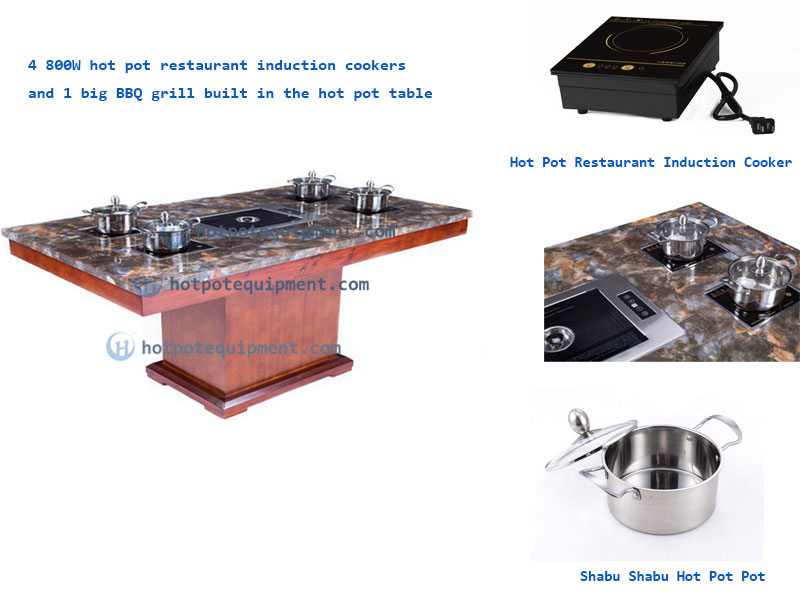 Mini Hot Pot Restaurant Induction Cookers built in the table