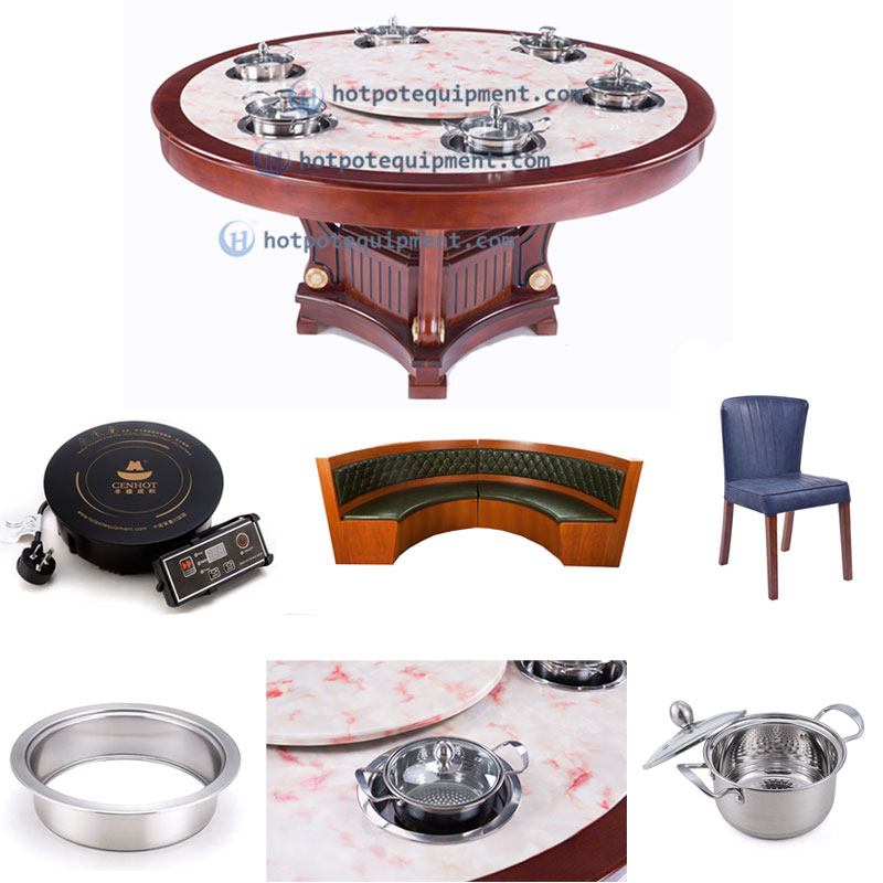 Wooden Hot Pot Table With Induction Cookers Suppliers - CENHOT
