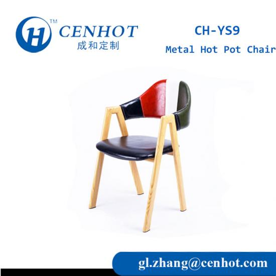 Modern Restaurant Chairs Seating With Metal Frame Manufacturers - CENHOT