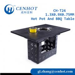 Square Metal Hot Pot AND BBQ Table CH-T24 - CENHOT