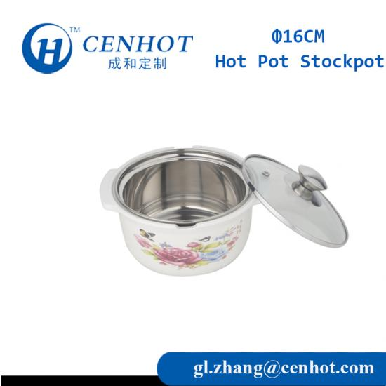 Mini Stainless Steel Fashion Soup Cooking Pot Cookware With Glass Cover - CENHOT