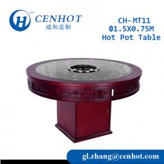 Wooden Downdraft Hot Pot Table For Restaurant Manufacturer China - CENHOT