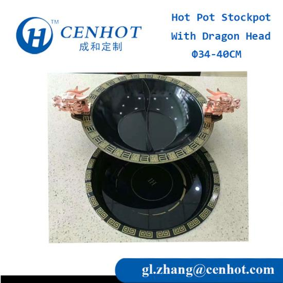 Dragon Head Hot Pot Cookware With Devider Suppliers - CENHOT