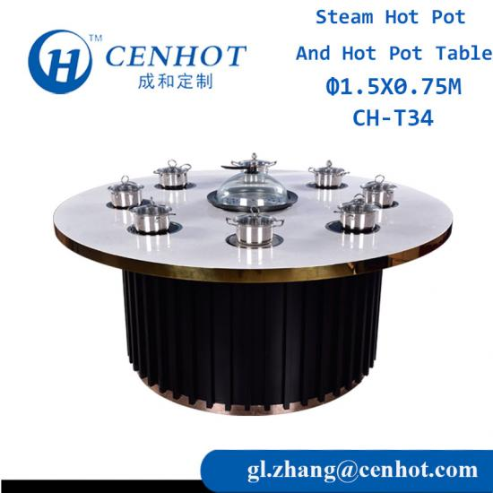 Round Hot Pot Tables For Restaurant Owners Manufacturers China - CENHOT