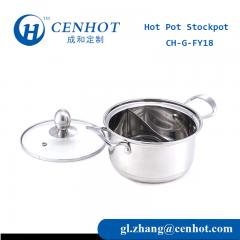 Small Hot Pot Stockpot With Divider Supply In China