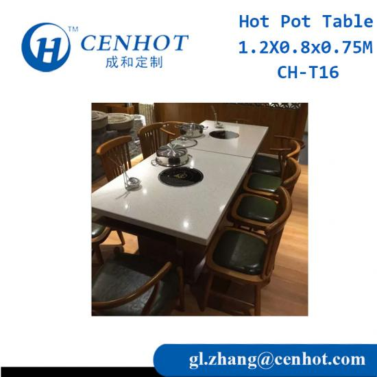Chinese Restaurant Hot Pot Table For Sale Manufactures - CENHOT
