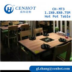 Wooden Hot Pot Table Manufacturer CENHOT