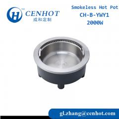Commercial Smokeless Hot Pot Built In Hot Pot Table For Restaurant - CENHOT