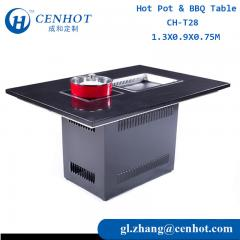 Greast Hot Pot And BBQ Grill Table Suppliers