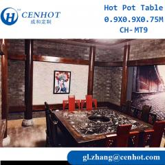 Wooden Hotpot Table For Restaurant